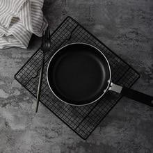 Suporte de cozimento de rack, bandeja preta para assar, para biscoitos, bolos, pão, rack de resfriamento, acessórios para fotografia de alimentos