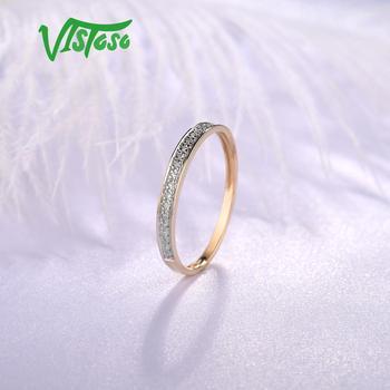 Yellow Gold Sparkling Diamond Minimalistic Ring 5