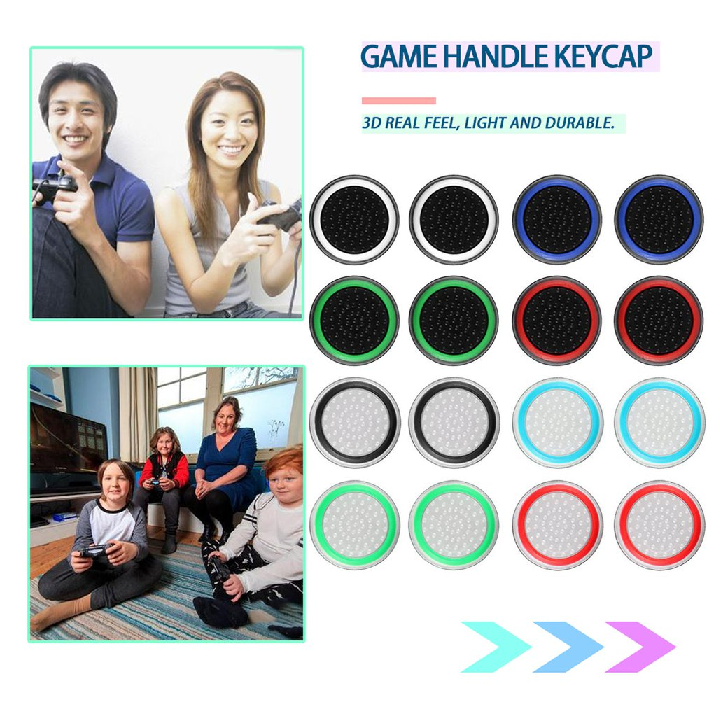 2pcs/lot Game Accessory Protect Cover Silicone Thumb Stick Grip Caps for PS4 PS3 for Xbox 360 for Xbox one Game Controllers Pakistan