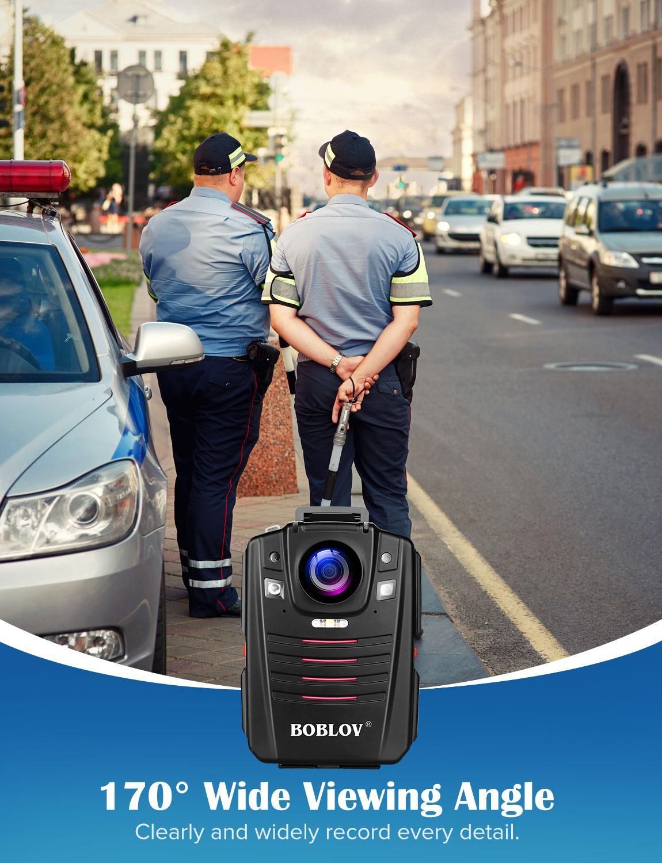 כורסאות טלויזיה BOBLOV HD66-07 גוף משטרת וידאו מצלמת DVR 64GB חוק אכיפת המצלמת 16X זום דיגיטלי 170 מצלמת Wide Angle ראיית לילה כיס (4)