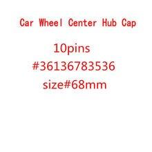 20 pçs 68mm 10pin carro auto roda centro hub tampas aro tampas emblema para 1 3 5 7 x3 x5 m3 m5 36136783536 acessórios do carro