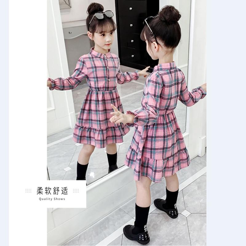 padrao bolso manga longa vestido para 3 10y roupas adolescentes vestido 02