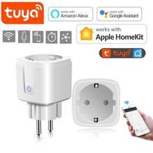 Tuya – ampoule intelligente, prise WiFi pour Homekit, Bluetooth, éclairage de la maison, prise intelligente ue avec Amazon Alexa Google Home