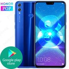 Globalne oprogramowanie układowe HONOR 8X telefon komórkowy 6GB 64/128GB Kirin 710 Octa Core 6.5 cala Android 9.0 3750mAh identyfikator linii papilarnych