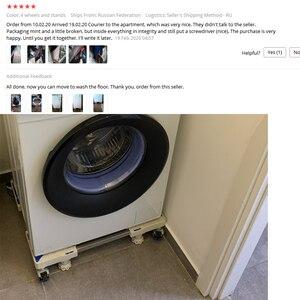 Image 5 - Di Chuyển Tủ Lạnh Sàn Tủ Lạnh Máy Giặt Lồng Đứng Giá Đỡ 4 Mạnh Chân Di Động Đứng Có Phanh Bánh Xe 500Kg