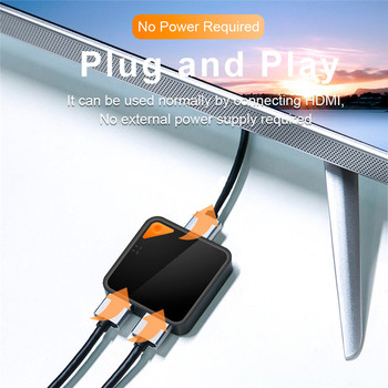 Bi-Directional HD Switch 2 In 1 Out One Click Switch 1 In 2 Out 4K 3D 30Hz HD Converter Video Connector Plug and Play