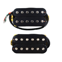 Guitar Black Double Coil Pickups 50Mm Neck 52Mm Bridge Sq Electric Guitar Pickups yibuy 2 x rose wood golden screws neck bridge 50 52mm electric guitar humbucker