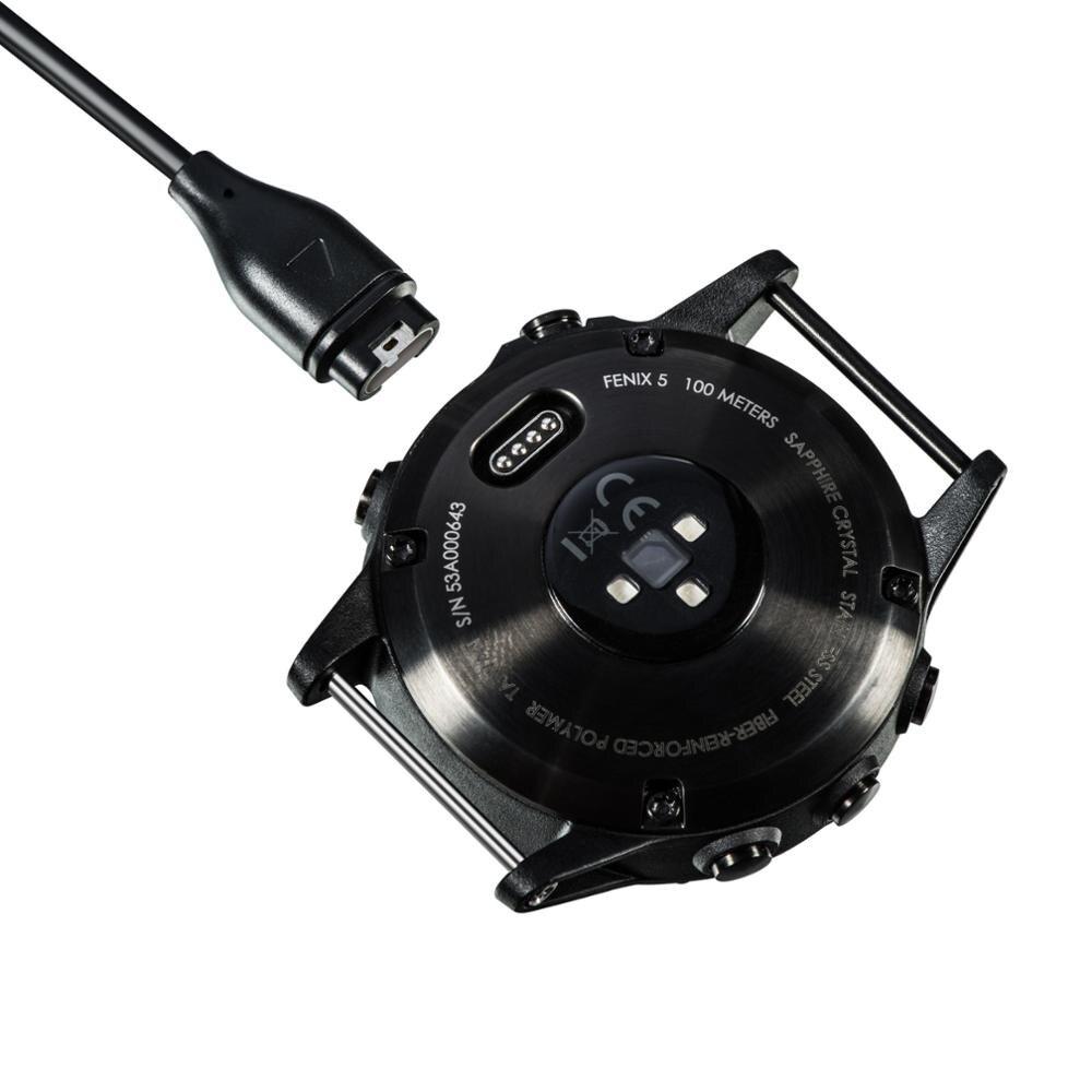 1m Usb Data Charging Cable For Garmin Fenix 5 5s 5x Forerunner 935 Vivoactive 3 Vivosport Quatix Approach S60 D2 Color: Black Lysee Data Cables