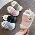 2019 г. Зимние ботинки для малышей утолщенные плюшевые зимние ботинки для мальчика и девочки с мягкой нескользящей подошвой  теплые детские б...