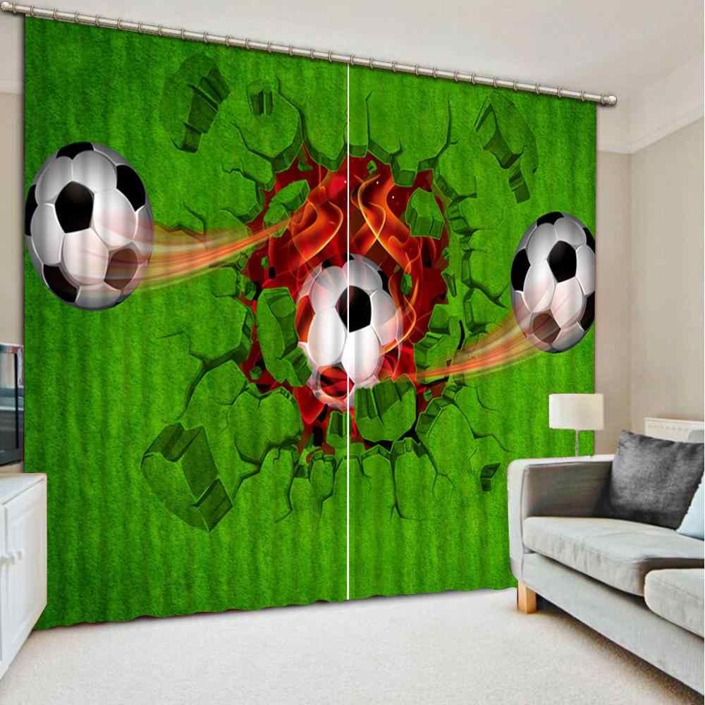 אירופאי וילונות custom 3D וילונות ראשי כדור קיר סלון חדר שינה ילדים חדר תמונה וילונות 3d