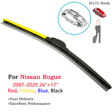 Red Blue Yellow Windshield Wiper Blades For Nissan Rogue T32 Sport Accessories 2008 2010 2011 2012 2013 2015 2016 2017 2018 2019 лонгборд mindless 2017 tribal rogue iii blue