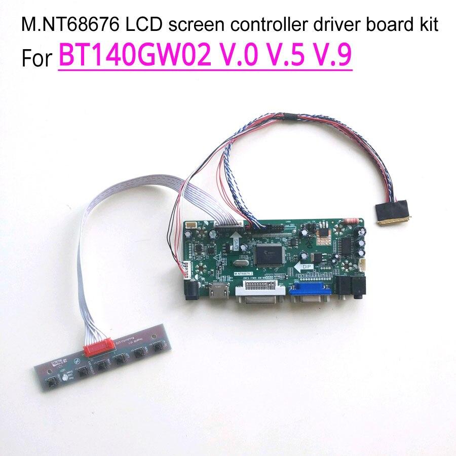HDMI+DVI+VGA LCD Controller Board Driver For B173RW01 V0 V.0 V.1 V1 V.5 1600*900