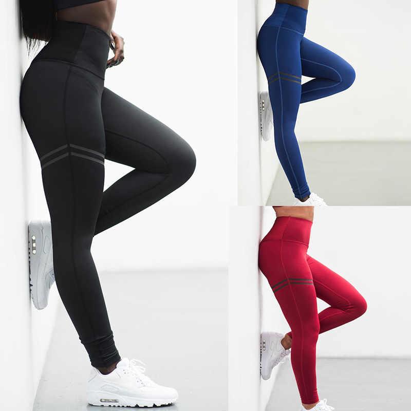 Kadın spor pantolonları seksi Push Up spor spor tayt kadın koşu tayt sıska Joggers pantolon sıkıştırma spor salonu pantolonu yumuşak