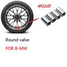 Capuchon de tige de Valve de Piston de pneu/jante de voiture en alliage d'aluminium, capuchon de tige de Valve de jante anti-poussière pour bmw M F10 F20 F25 F30 F31 E46 E90 4 pièces