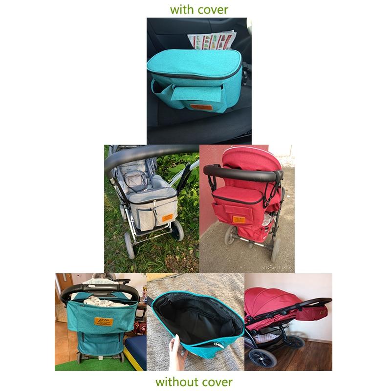 H17596f7455484b529eb62cfde8af4e266 Baby Stroller Organizer Nappy Bag Mummy Waterproof Hanging Carriage Bottle Bag Handbag Pram Buggy Cart Organizer Diaper Bag