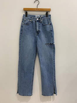Vintage Straight Women Jeans Split Ripped High Waist Jeans Pants Female 2020 Spring Summer Loose Denim Trousers jeans rushed promotion cotton sashes plaid capris loose low 2014 spring and summer taste the random of color waist denim female