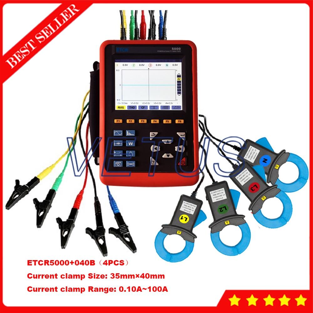 Etcr5000 Digital 3 Phase Power Analyzer Tester With The