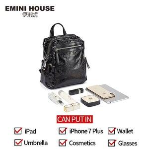 Image 4 - EMINI ev Punk tarzı kadın sırt çantası çoklu giyen yöntemleri kadın omuzdan askili çanta gençler için sırt çantaları kız çocuk okul çantası