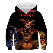 Hoodie FNAF Cartoon Costumes Clothing Sweatshirt Girl Baby Boy Kids Children Five-Nights