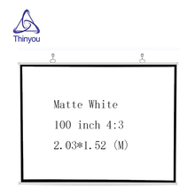 Thinyou 100 Inch 4:3 HD Portable Projector Screen Plastic Screen For Home theater made of Matt White Material Projection Screen цена и фото