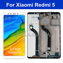 AAA quality IPS LCD For Xiaomi Redmi 5 LCD Screen Display With Frame+Touch Panel Digitizer Assembly For Redmi 5 Display 5pcs lot lcd display touch panel for mann zug 5 zug5 zug5s 100