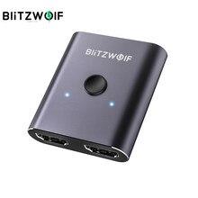 BlitzWolf Switch bidirezionale compatibile HDMI 1 ingresso 2 uscita/2 ingresso 1 uscita Switcher Splitter compatibile HDMI per PC TV