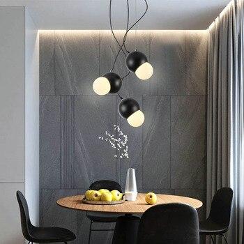 Nordic designer art model room art bedroom bedside dining room lamp bar decorative pendant lights