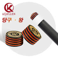 KONLLEN Carom punta 3C PLUS PRO-Tip 3 cojín Carom Cue Tip puntas para tacos de billar 14mm taco de billar profesional billar Accesorios