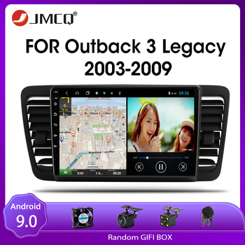 JMCQ Android 9.0 Car Radio For Subaru Outback 3 Legacy 4 2003-2009 Multimedia Video Player 2 din DSP GPS Navigaion Split Screen