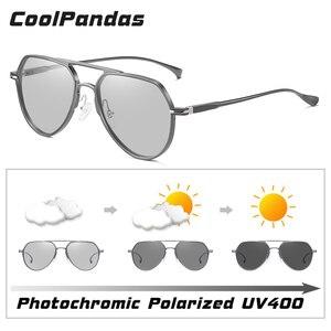 Image 3 - Солнцезащитные очки CoolPandas для мужчин и женщин UV 400, авиаторы с фотохромными линзами, антибликовые, для вождения