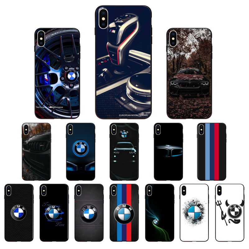 Blue Red Car for Bmw Bags For <font><b>iphone</b></font> X or XS Customer Phone Coqa for <font><b>iPhone</b></font> 11 pro XS MAX 8 7 <font><b>6</b></font> 6S Plus X 5 5S SE XR <font><b>case</b></font> image