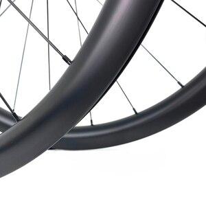 Image 5 - ELITEWHEELS 700c disk fren karbon tekerlekler DT İsviçre 240 için Cyclocross çakıl bisiklet tekerlek kattığı tübüler Tubeless jant kral