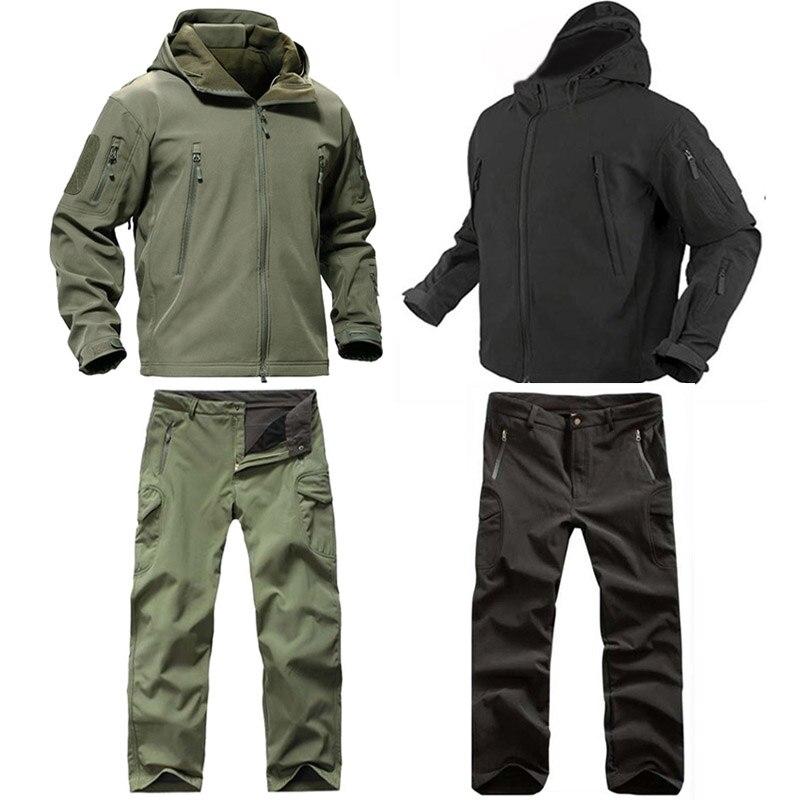 Мужская тактическая куртка TAD Softshell, Спортивная камуфляжная одежда для охоты, куртка или штаны, военные костюмы для альпинизма, пешего туриз...