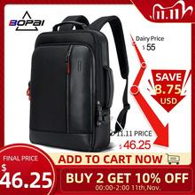 BOPAI Anti theft Enlarge Backpack USB External Charge 15.6 Inch Laptop Backpack Men Waterproof School Backpack bags for Teenager