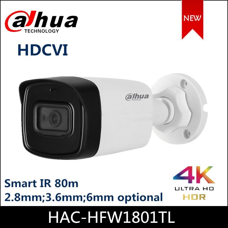 New Dahua HDCVI Camera Lite Plus Series 4K IR Bullet Camera HAC-HFW1801TL  Max IR Length 80m IP67 Security Camera