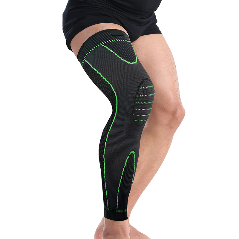 Drop Ship From USA Mumian Elasticity Long Knee Protector Brace Leg Sleeve Knee Pads Calf Support Brace Protector Warm Sport Knee