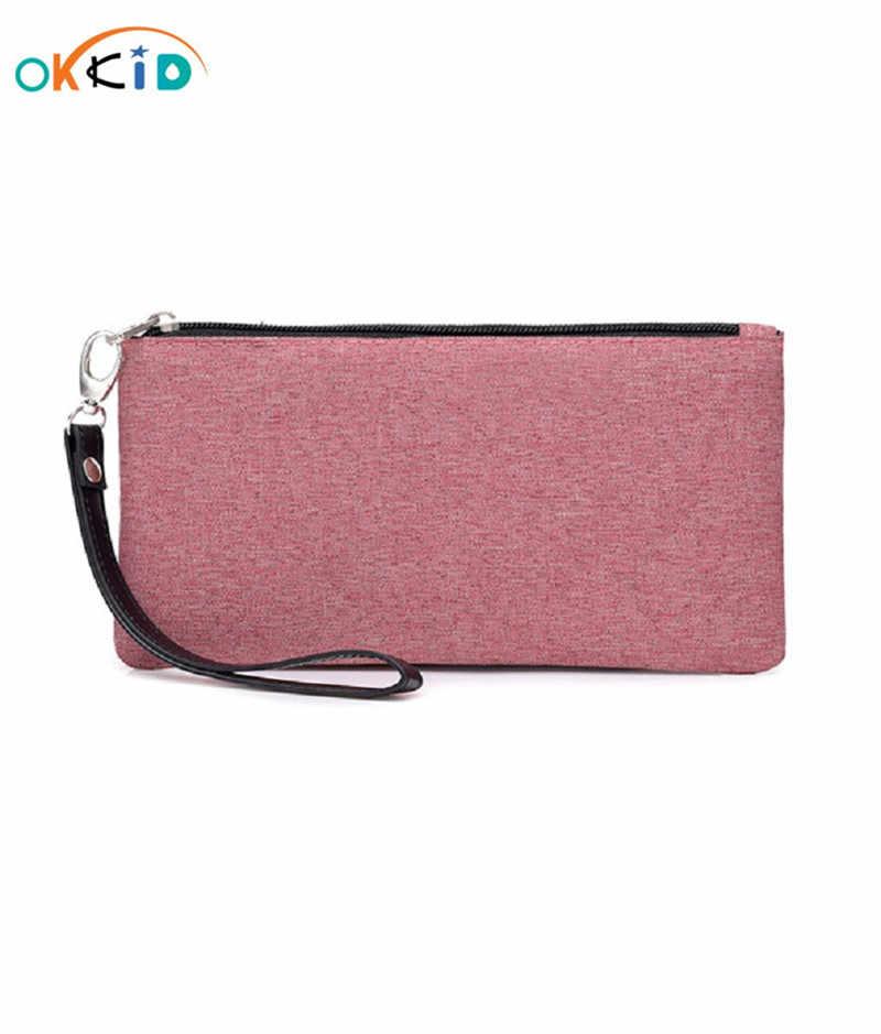 Женский тонкий кошелек с ремешком на запястье, Женская Портативная сумка для телефона, мужской клатч, Длинный кошелек для девушек, женщин, id, кредитный держатель для карт