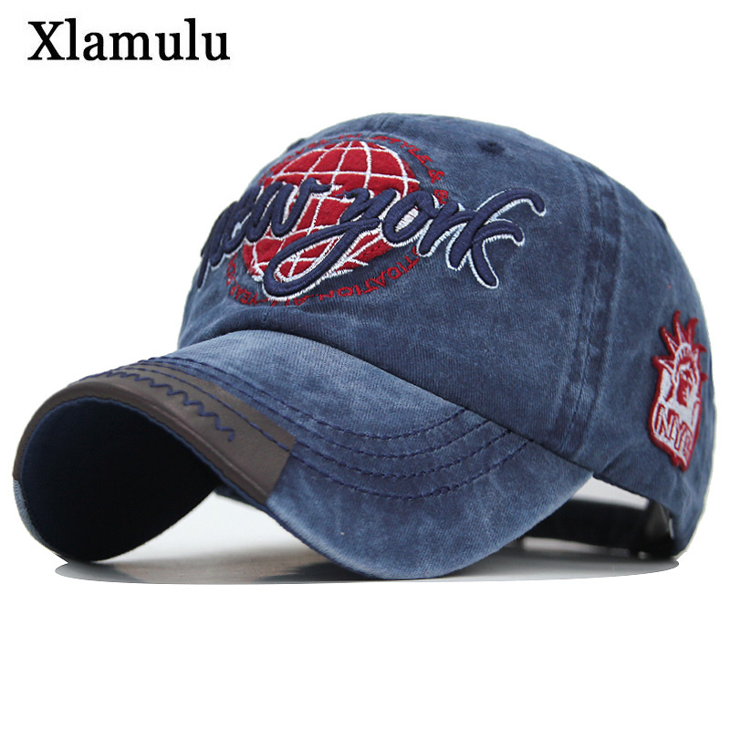Xlamulu Outdoor High Quality Baseball Caps Women Men Cotton Embroidered Summer Adjustable Hats Gorra Hombre Sport Man Dad Hats