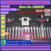 Aoweziic 2020 + 100% novo importado njw1302g njw3281g njw1302g njw1302 njw3281 para 247 tubo amplificador de potência 250v 15a