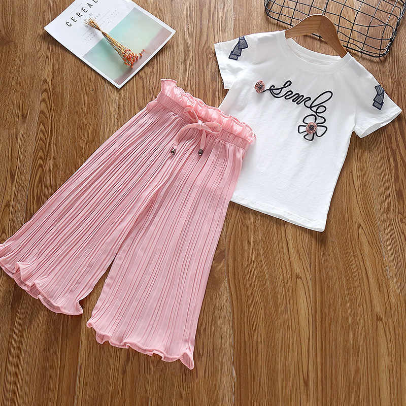 Crafted Infants Girls T Shirt and Shorts Set Clothing Pants Trousers Bottoms Tee