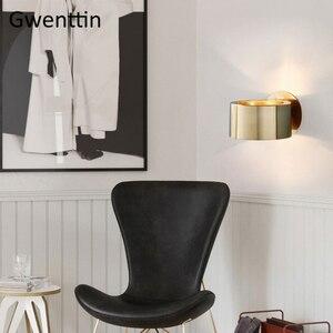 Image 4 - Современный роскошный золотой настенный светильник, светодиодный настенный светильник, настенные светильники, зеркальный светильник s для дома, арт деко, лофт, промышленный светильник, светильник для лестницы