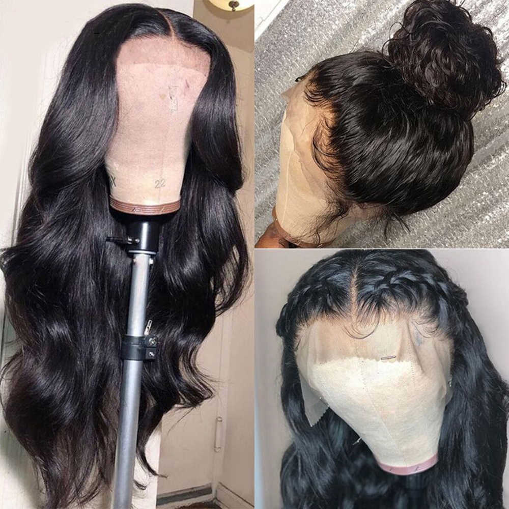 Groß Verkauf 4x4 5x5 6x6 Spitze Verschluss Perücken Menschliches Haar Mittleren Teil 30 zoll brasilianische Körper Welle 13x4 Spitze Vorne Perücke Remy Jarin Haar