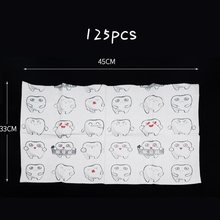 125pcs Dental Bibs Cartoon Disposable Neckerchief Bib Scarf Oral Hygiene Medical Paper Scarf Dentist Products Materials 500pcs dental materials dental x ray barrier envelopes supplies x ray machine disposable protective pouch dental products