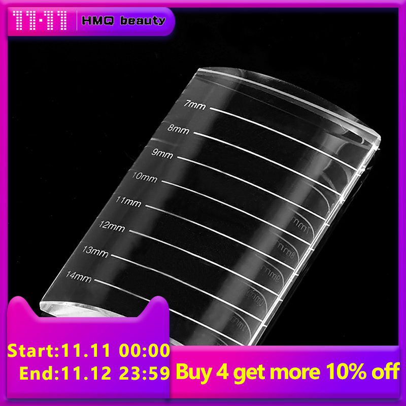 2 In 1 U Bend Curved Crystal False Eyelashes Stand Pad Pallet Lashes Holder Fake Lashes Extension Essential Tool
