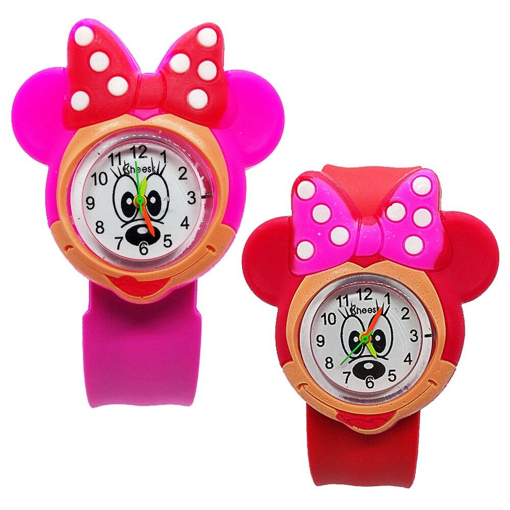 Милые игрушки с Микки и Минни Маус, детские часы для девочек и мальчиков, рождественский подарок для детей, часы для учеников начальной