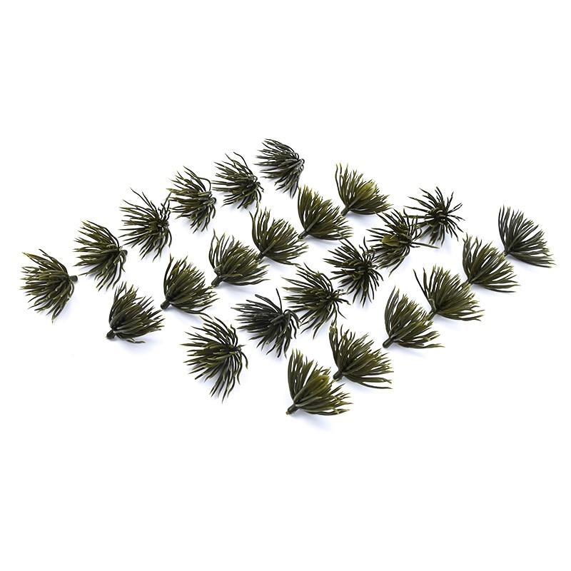 6pcs Plastic Leaf Artificial Plants Wedding Decorative Flowers Christmas Garland Crafts Home Decoration Accessories Diy A Cap