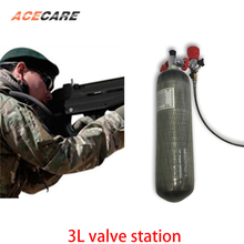 Купить с кэшбэком AC103101 3L CE Mini Scuba Air Tank 4500Psi Gas Cylinder Pcp Air Rifle carbon air tank Airforce Condor Valve And Gas Station