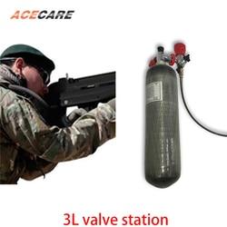 AC103101 3L CE Mini Scuba Air Tank 4500Psi Gasfles Pcp Air Rifle carbon air tank Airforce Condor Klep En gas Station