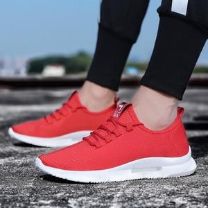 Image 4 - 2019 ใหม่Breathable Breathableตาข่ายชายรองเท้าสบายๆ 2019 ใหม่ฤดูร้อนรองเท้าผู้ชายสีขาวชายรองเท้าผ้าใบลูกไม้ขึ้นรองเท้า
