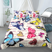 hot sell quilt cover bedclothes bedding set double layer blanket simple fashion crystal thicken velvet quilt cover home supplies 3D Bedding Set Butterfly Duvet Cover King Queen Size Quilt Cover Bedclothes Comforter Cover 2/3Pcs Duvet Cover Set